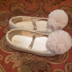 Children place toddler girl pink gold shoes 11M